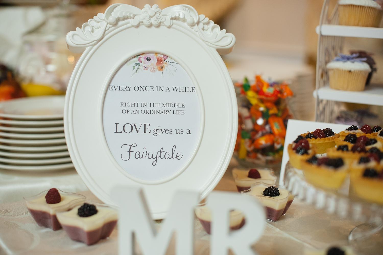 Fotografie de nunta candy bar si mesaje